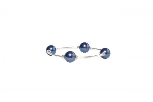 Crystal Midnight Blue Pearl Blessing Bracelet