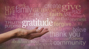 Image of gratitude and related words
