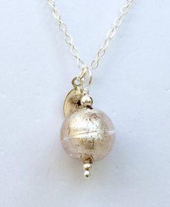 Platinum Murano Glass Necklace