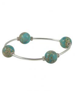 Crystal Blue Jasper Blessing Bracelet