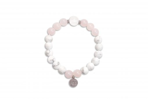I AM LOVE - Howlite and Rose Quartz Wrist Mala
