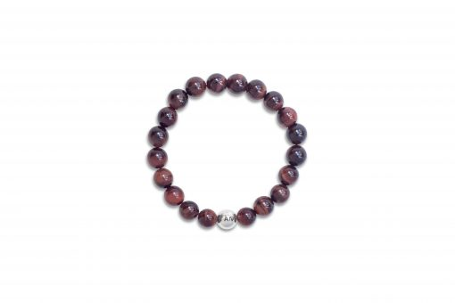 Men's Red Tiger's Eye Wrist Mala