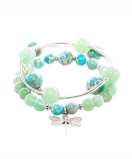 Aventurine Blessing Bracelet and Sacred Aventurine & Blue Jasper