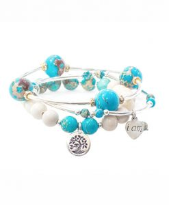 Blue Jasper Peace Tio