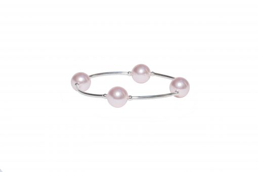 Pink Pearl Bracelet pale pink pearl bracelet sterling silver unique gift jewelry set bracelet features