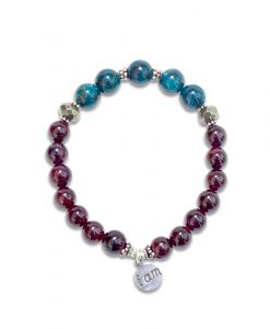 I AM - Garnet, Apatite and Pyrite Wrist Mala
