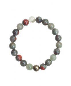 Men's Abundance Bloodstone Bracelet round