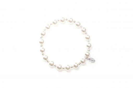 Count Your Blessings Bracelet in White Pearl