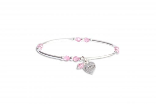Pink Crystal Intentional Bracelet