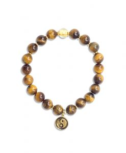 Tiger's Eye and Gold Wrist Mala