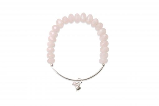 Sorriso Bracelet in Rose Quartz and Sterling Silver