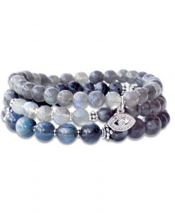 Enjoy the Journey Trio - Labradorite, Larvikite and Kyanite Wrist Malas