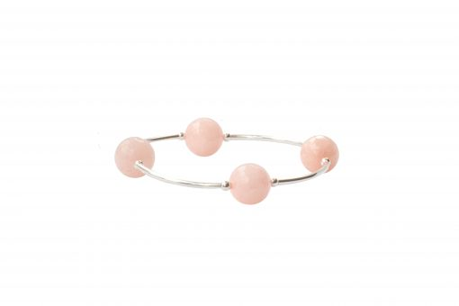 Faceted Rose Water Jade Blessing Bracelet
