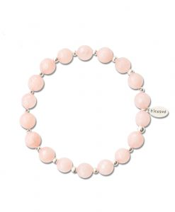 Count Your Blessings Bracelet in Faceted Rose Water Jade