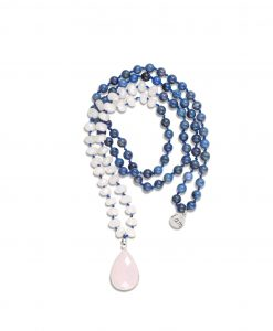 POWER OF LOVE - 108 Count Rose Quartz & Dumortierite Mala