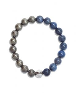 POWER OF LOVE- Men's Dumortierite & Pyrite Wrist Mala