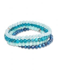 I Am Invincible - Stack of Gemstone Bracelets