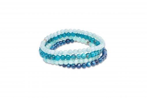 I Am Invincible - Stack of Gemstone Bracelets