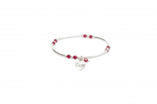 Siam Red Crystal Intentional Bracelet