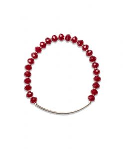 Sorriso Bracelet in Siam Red Crystal and Sterling Silver