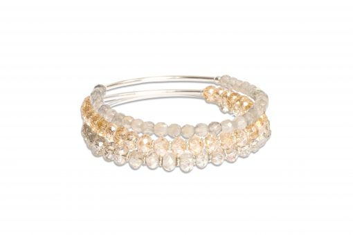 I Am Beautiful Trio of Crystal Sorriso Bracelets