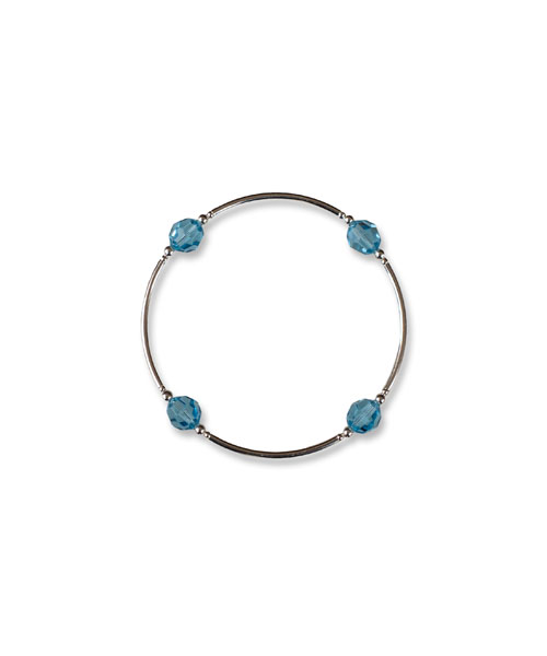 March Aquamarine Birthstone Bracelet aquamarine bracelet March birthstone jewelry crystal