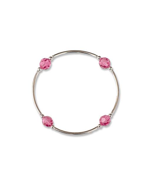 October Rose Birthstone Bracelet october birthstone jewelry pink crystal bracelet October birthday gift