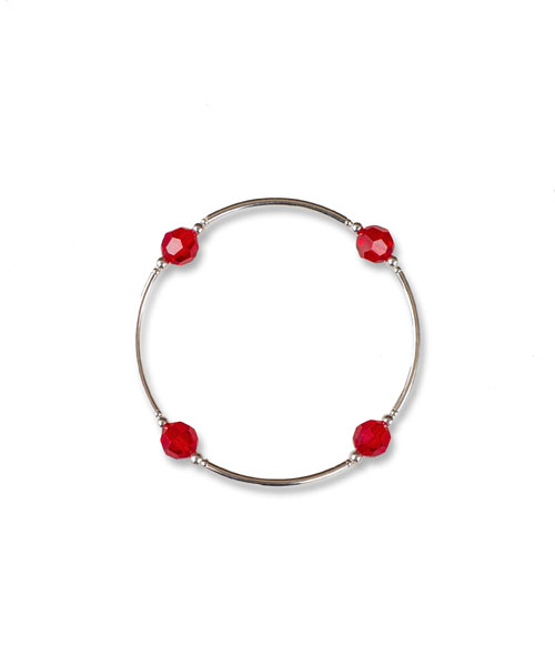 July Ruby Birthstone Bracelet july birthstone ruby sterling silver bracelet crystal ruby jewelry