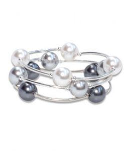 Swarovski crystal pearl blessing bracelets stackable handmade bracelet set