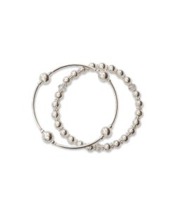 Duo of Petite Sterling Silver Bracelets, 8mm Blessing and the Dreamer