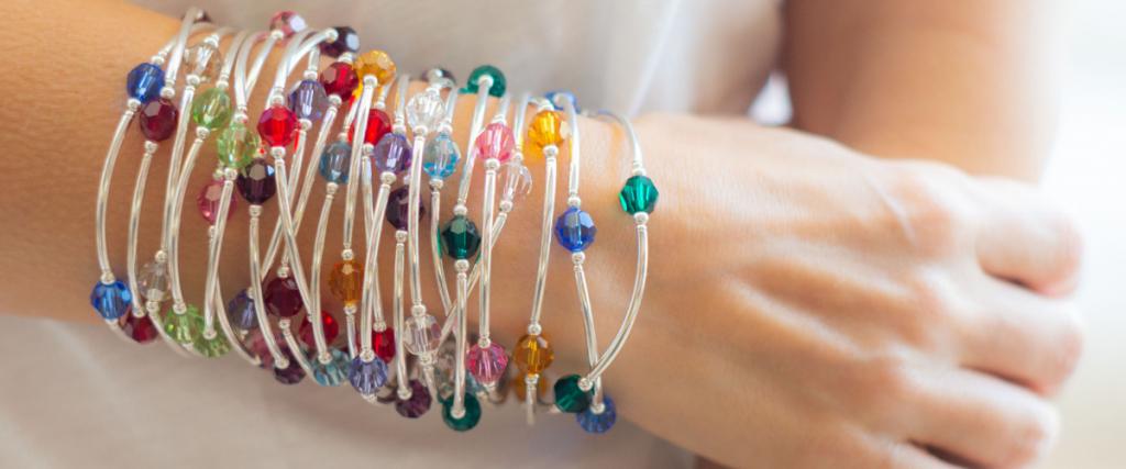 Crystal Jewelry Stackable Handmade Birthstone Bracelets