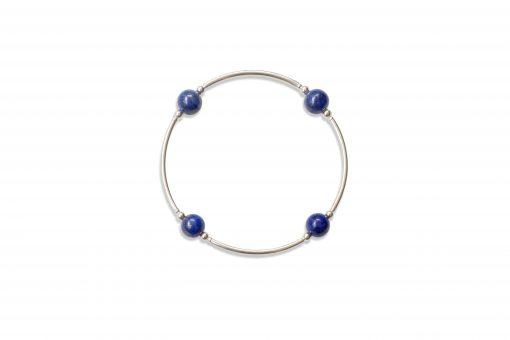 Smaller Bead Lapis Blessing Bracelet