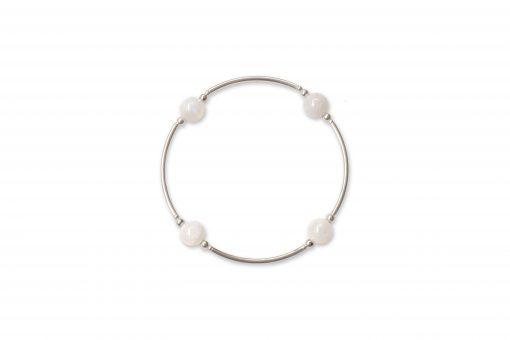 Smaller Bead Moonstone Blessing Bracelet