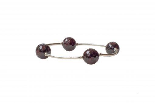 Faceted Garnet Blessing Bracelet