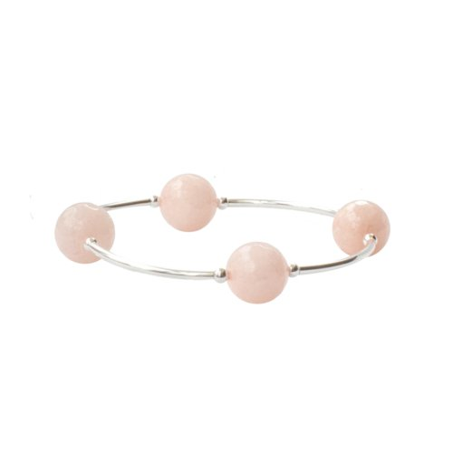 Faceted Rose Water Jade Blessing Bracelet | Mother's Day Gift Idea