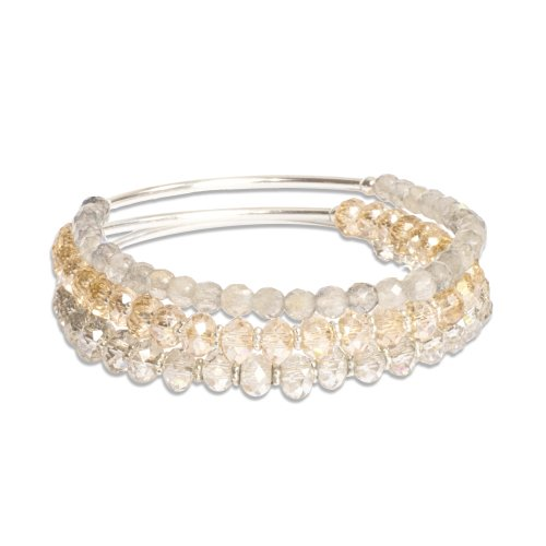 I Am Beautiful Trio of Crystal Sorriso Bracelets | Mother's Day Gift Idea