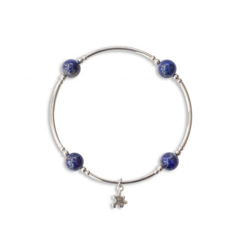 Lapis Blessing Bracelet with Puzzle Piece | Mother's Day Gift Idea