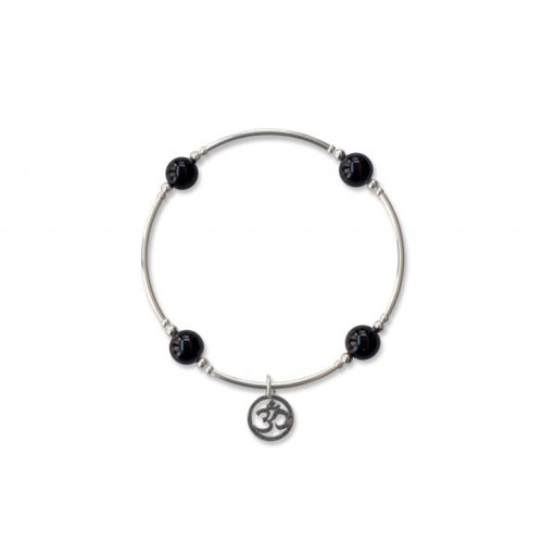 Onyx Blessing Bracelet with Om Charm | Mother's Day Gift Idea